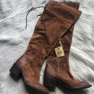 4a89094acdb Born Shoes - New Born Gallinara Over The Knee Boots Suede 6